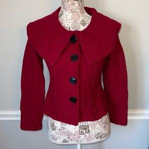 Harve Benard Wool Red Coat Small